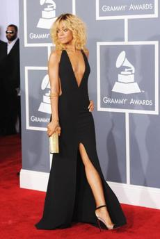 WHO: Rihanna. WHERE: The 54th annual Grammy Awards in Los Angeles on Feb. 12. WORE: Giorgio Armani.